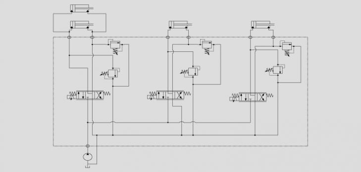 电磁换向阀控制油缸的运动方向