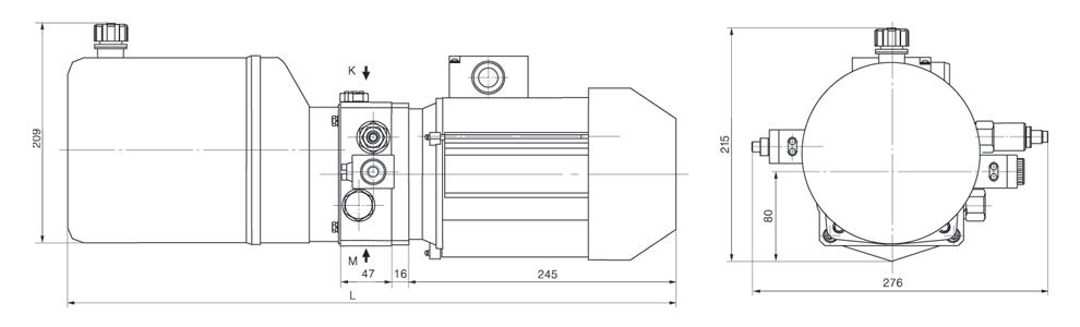 动力单元专为登车桥设计,由高压齿轮泵,交流电机,多用集成块,各式液压