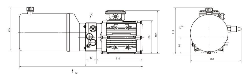 如需不同流量的泵,压力,电机功率等系统参数,请查看液压动力单元型号